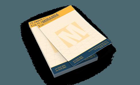 Bloco de Anotações com 100 folhas Sulfite